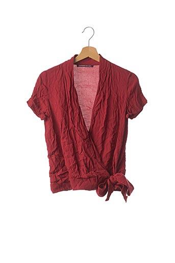 Blouse manches courtes rouge COMPTOIR DES COTONNIERS pour femme