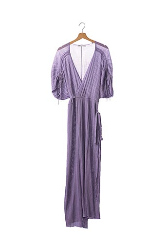 Gilet manches courtes violet ZARA pour femme