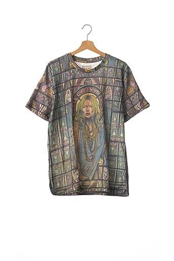 T-shirt manches courtes gris ELEVEN PARIS pour femme