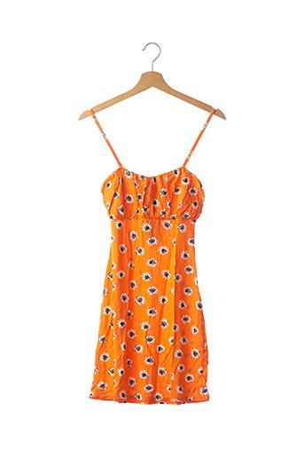 Robe mi-longue orange NASTY GAL pour femme