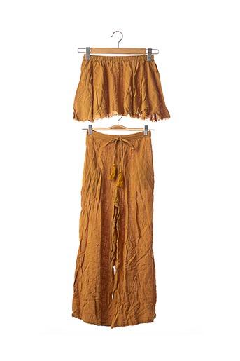 Pantalon casual marron SANS MARQUE pour femme