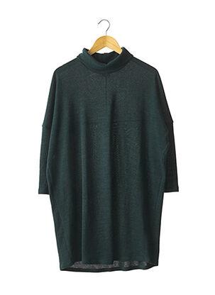 Robe pull vert DROLATIC pour femme