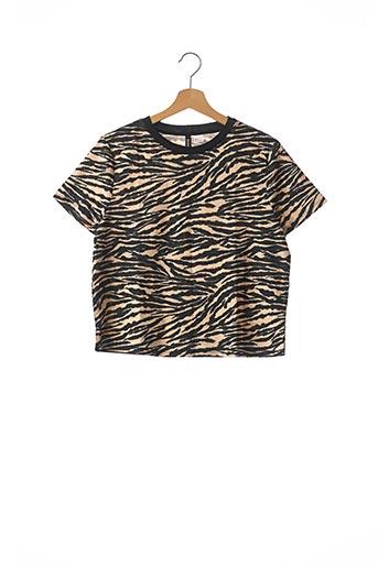 T-shirt manches courtes beige DIVIDED H&M pour femme