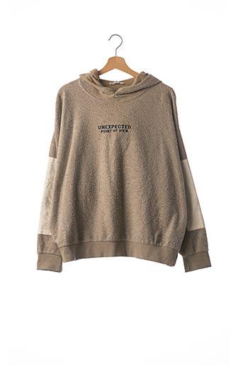 Sweat-shirt beige ZARA pour femme