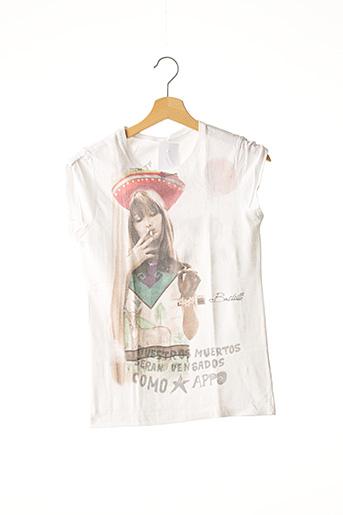 T-shirt manches courtes blanc FORMENTERA pour femme