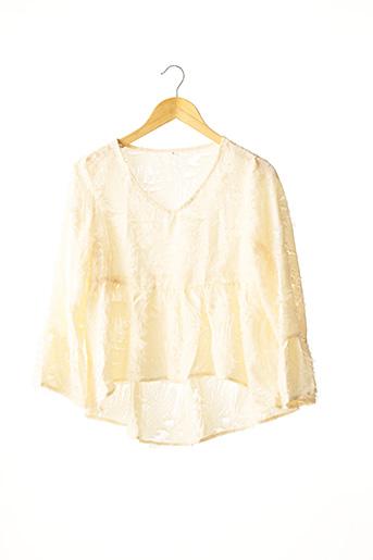 Tunique manches longues beige SHEIN pour femme