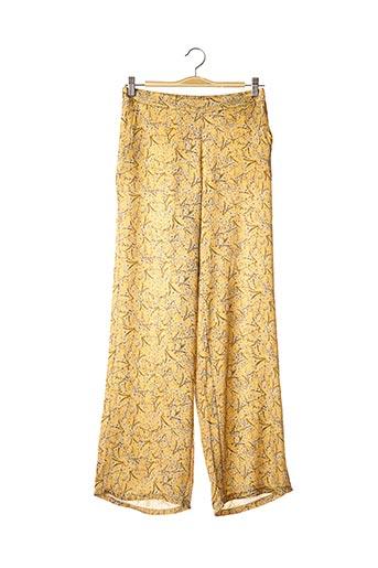 Pantalon casual jaune BLACK ROSE BY ACCENTO pour femme