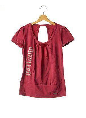 T-shirt manches courtes rose GALLIANO pour femme
