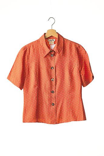 Chemisier manches courtes orange HERMES PARIS pour femme