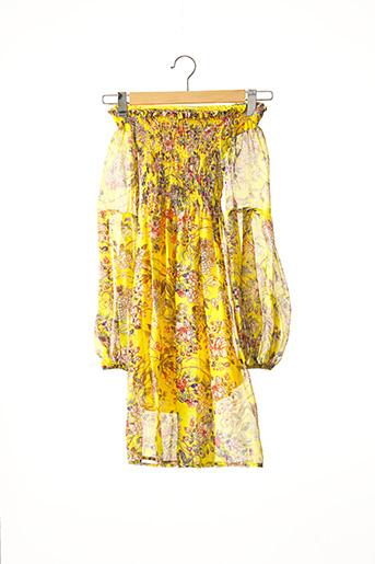 Robe mi-longue jaune LIU JO pour femme