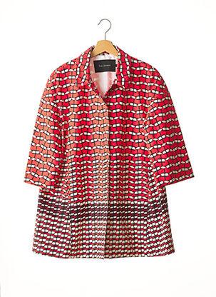 Manteau long rouge TARA JARMON pour femme