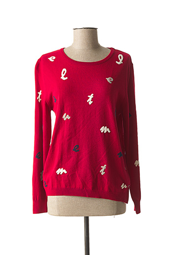 Pull col rond rouge RABE pour femme