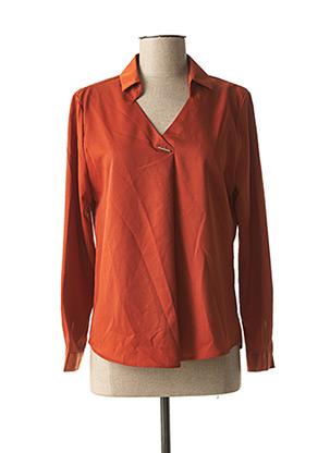 Blouse manches longues orange ACBELLE pour femme