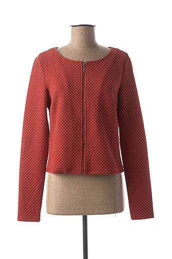 Veste casual orange VILA pour femme
