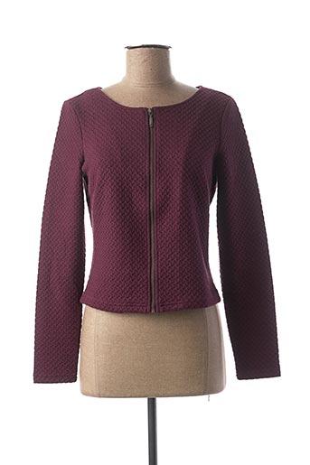 Veste casual violet VILA pour femme