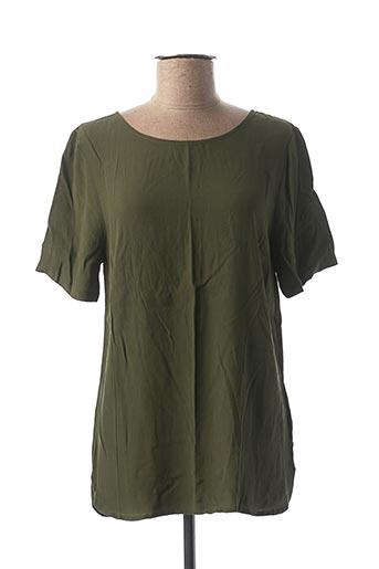 Blouse manches courtes vert ICHI pour femme