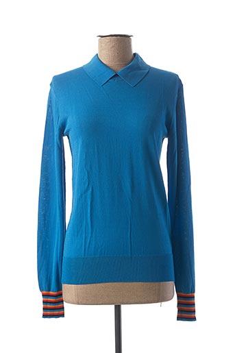 Pull col chemisier bleu CKS pour femme
