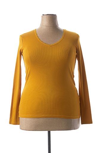 T-shirt manches longues jaune BEST MOUNTAIN pour femme