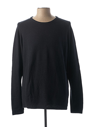Pull col rond bleu SELECTED pour homme