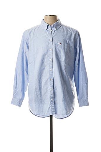 Chemise manches longues bleu TOMMY HILFIGER pour homme