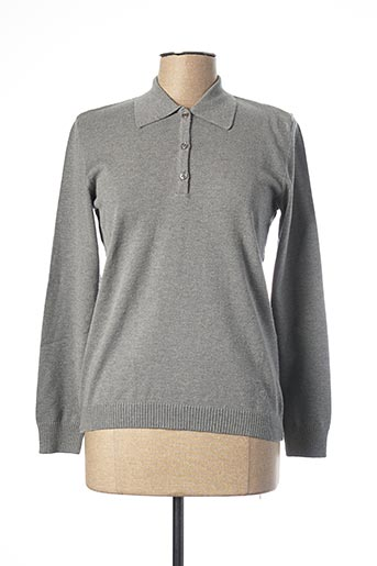 Polo manches longues gris LEBEK pour femme