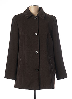 Manteau court marron LEBEK pour femme