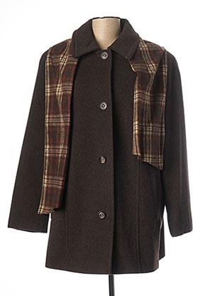 Manteau long marron LEBEK pour femme
