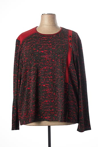 Pull col rond rouge GEVANA pour femme