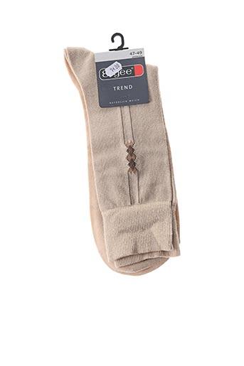 Chaussettes beige ERGEE pour homme