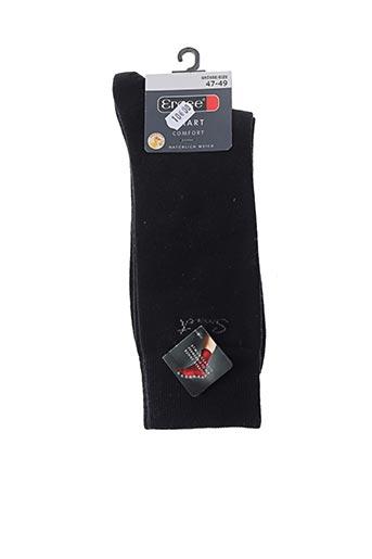 Chaussettes noir ERGEE pour homme