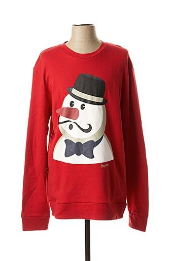 Sweat-shirt rouge JACK & JONES pour homme