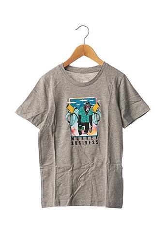 T-shirt manches courtes gris JACK & JONES pour garçon