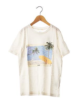 T-shirt manches courtes blanc JACK & JONES pour enfant