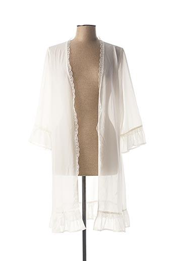 Robe de chambre blanc PIEGE pour femme