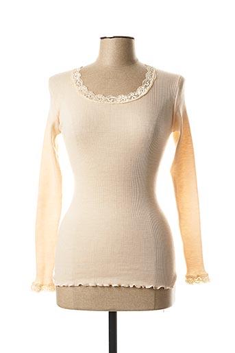 T-shirt manches longues rose BARBARA pour femme