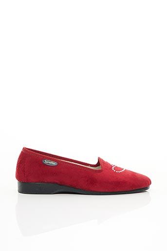 Chaussons/Pantoufles rouge SEMELFLEX pour femme
