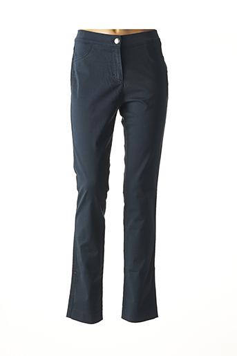 Pantalon casual bleu DISMERO pour femme