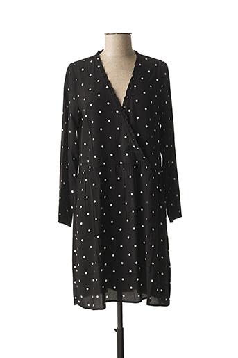 Robe mi-longue noir DES PETITS HAUTS pour femme