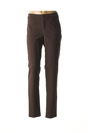 Pantalon casual marron JAVIER SIMORRA pour femme