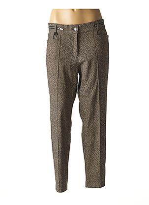 Pantalon casual beige MADO ET LES AUTRES pour femme