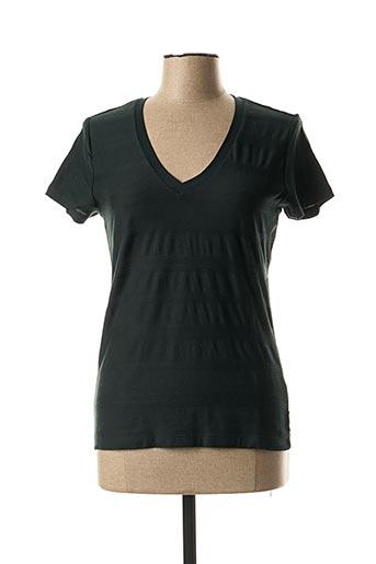 T-shirt manches courtes vert SCOTCH & SODA pour femme