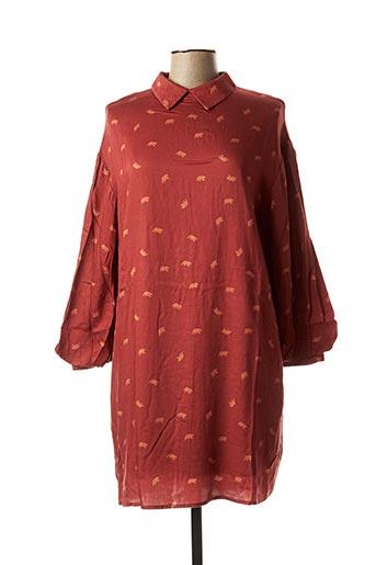 Robe courte marron CHARLISE pour femme