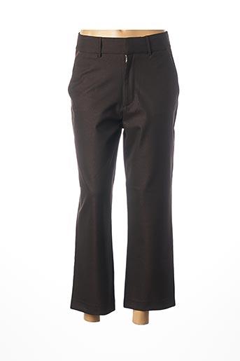 Pantalon 7/8 noir REIKO pour femme