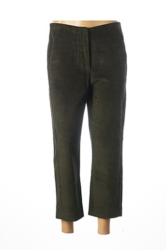 Pantalon 7/8 vert CHARLISE pour femme