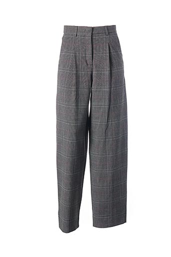 Pantalon casual gris ESSENTIEL ANTWERP pour femme