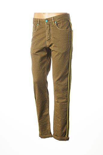 Jeans coupe droite vert BARB'ONE pour femme