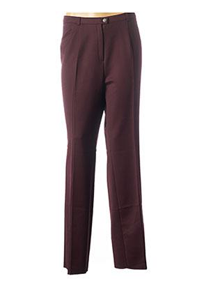 Pantalon casual violet CHRISTIAN MARRY pour femme