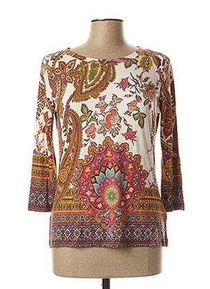 T-shirt manches longues rose DESIGUAL pour femme