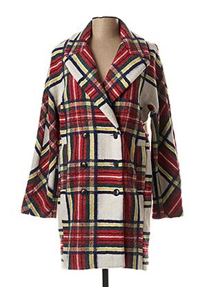 Manteau long rouge DESIGUAL pour femme