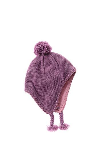 Bonnet violet GRAIN DE BLÉ pour fille